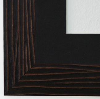 Bilderrahmen Köln in Braun Struktur mit Passepartout in Schwarz 4, 5 Top Qualität