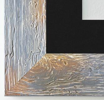 Bilderrahmen Capri in Grau mit Passepartout in Schwarz 5, 8 - NEU alle Größen