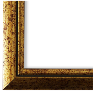 Bilderrahmen Gold Holz Perugia 3, 0 - DIN A2 - DIN A3 - DIN A4 - DIN A5