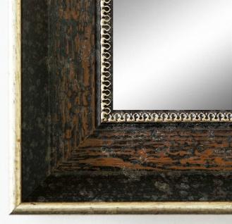 Badspiegel dunkel Braun Silber Monza Antik Barock 6, 7 - alle Größen