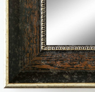Wandspiegel dunkel Braun Silber Monza Antik Barock 6, 7 - NEU alle Größen - Vorschau 2