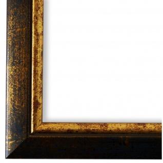 Bilderrahmen dkl. Blau Gold Retro Vintage Holz Perugia - 40x60 50x50 50x60 60x60