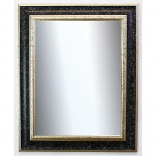 Garderobenspiegel Schwarz Silber Acta Antik Barock 6, 7 - NEU alle Größen