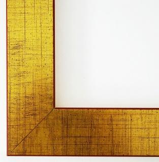 Bilderrahmen Gold Modern Shabby Schlicht Rahmen Holz Duisburg 4, 3 - 50 x 70 cm