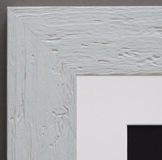Bilderrahmen Capri in Weiss Landhaus mit Passepartout in Weiss 5, 8 - alle Größen