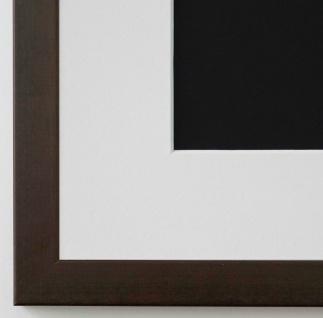 Bilderrahmen Neapel in dunkel Braun mit Passepartout in Weiss 2, 0 Top Qualität