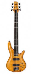 Ibanez GVB36-AM, E-Bass, 6 Saitig, GERALD VEASLEY, amber