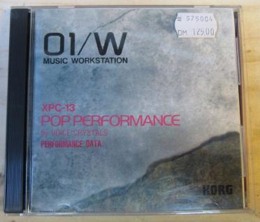 Korg 01/W XPC-13, Pop Performance, by Voice Crystals, gebraucht