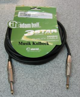 Adam Hall Kabel 3 Star Serie - Instrumentenkabel 6m 6, 3 mm Klinke K3IPP0600