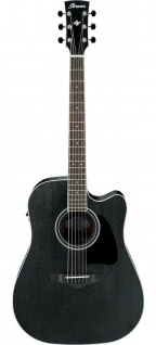 IBANEZ AW84CE-WK, Artwood Acoustic Guitar 6 String, Weathered Black