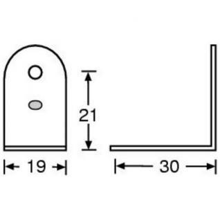 8 St. Adam Hall Hardware 4041 - L-Ecke / L-Winkel, Stahl, Flightcase, verzinkt - Vorschau 2
