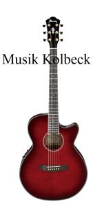 Ibanez AEG24 II THS, Westerngitarre, Saiten 6, Transparent Hibiscus Red Sunburst