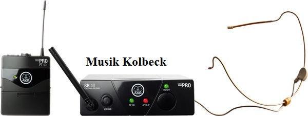 AKG WMS40 Mini Sport Set für Gesang u. Sprache Headset Hautfarben, Kondensator