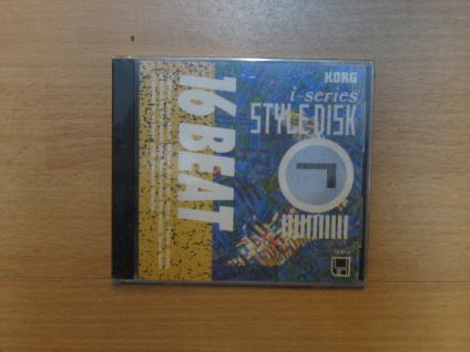 Korg i-series Styl Disk, i3, i2, 16 Beat, IFD-07, gebraucht
