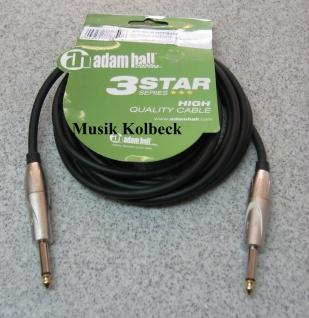 Adam Hall Kabel 3 Star Serie - Instrumentenkabel 3m 6, 3 mm Klinke K3IPP0300