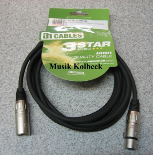 Adam Hall Kabel 3 Star Serie - Mikrofonkabel 3m K3MMF0300, 3 m, Mikrofon