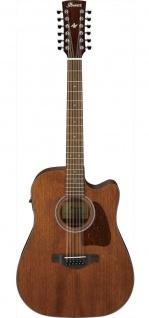 Ibanez AW5412CE-OPN, 12 Saiter Westerngitarre, OPEN PORE NATURAL ARTWOOD