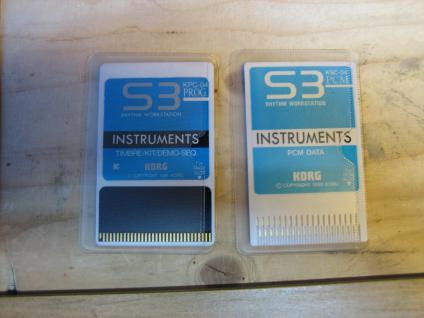Korg S3 KPC-04 Prog., S3 KSC-04 PCM, Instrumental, gebraucht