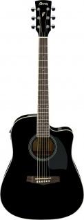 IBANEZ PF15ECE-BK, PF-Serie Akustikgitarre 6 String Performance Black