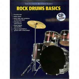 ROCK DRUMS BASICS, Tom Brechtlein, Mike Finkelstein, Schlagzeugschule, mit CD