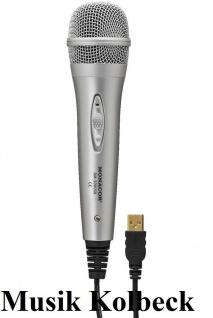 Monacor DM-500USB, USB Mikrofon, für Windows* XP/Vista/7/8 oder Mac OS* 9/X
