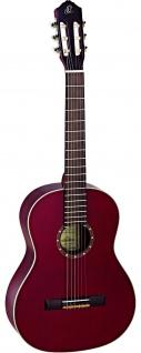 Ortega R131 WR, Konzertgitarre, mit Tasche, 4/4, Weinrot transparent