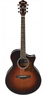 Ibanez AE205-BS, BROWN SUNBURST HIGH GLOSS, Westerngitarre, mit Tonabnehmer