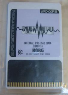 Korg 01/W, WPC-OOP III, Internal Pre-Loade Data (Bank 3), gebraucht