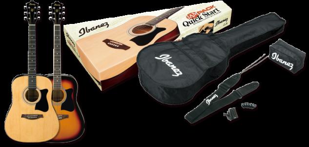 Ibanez V50NJP-VS, Jampack Starterpaket , eine Gitarre + Tasche + Zubehör