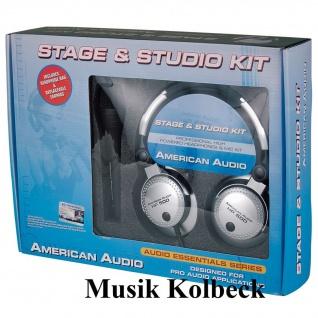 American Audi Set mit SHP 500 Profi-Kopfhörer DM-302X Mikrofon 4, 5m XLR/Klin
