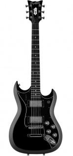HAGSTROM E-Gitarre, H-II NT Ltd, 60th Anniversary, Schwarz Top, H2NT6009