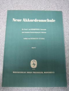 Neue Akkordeonschule, Band 2, alter Einband, Hermann Starke, B Ware
