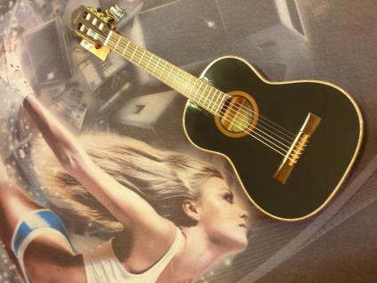 Ortega R221 3/4 BK Konzertgitarre mit Gig Bag Akustische Gitarre