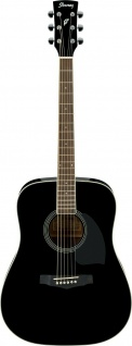 Ibanez PF15-BK, Dreadnought, Westerngitarre, Black High Gloss