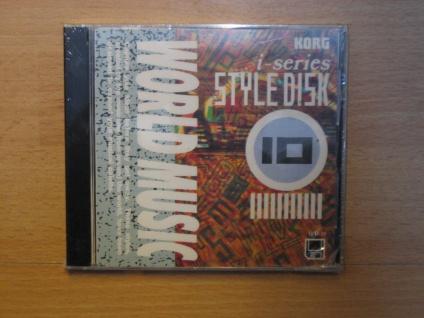 Korg i-series Styl Disk, i3, i2, World Music, IFD-10, gebraucht