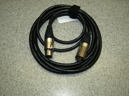 Mikrofonkabel 3m 2 x 0, 5mm Querschnitt handgelötet Sommerkabel Neutrik Stecker