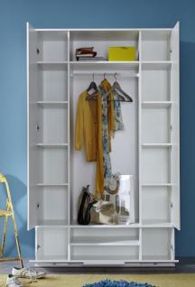 garderobe ela garderobenschrank flurschrank wei 115 x 195 cm kaufen bei oe online einrichten gmbh. Black Bedroom Furniture Sets. Home Design Ideas