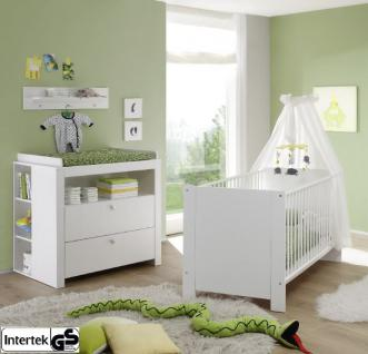 Babyzimmer Set Olivia weiß Set 4-teilig inkl. Babybett