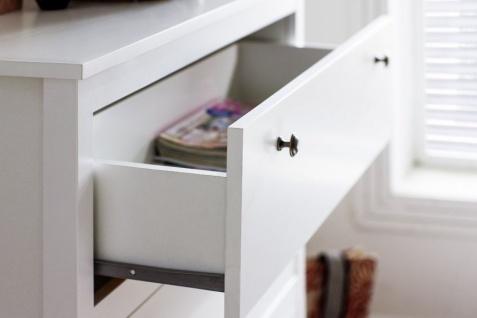 Kommode Ole in weiß Sideboard für Flur Esszimmer und Wohnzimmer Anrichte 183 x 98 cm - Vorschau 3