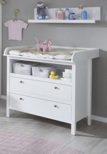Babyzimmer Ole komplett Set 3-teilig weiß mit Wickelkommode Babybett und Wandregal - Vorschau 2