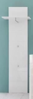 Garderobenpaneel Amanda weiß Hochglanz tiefgezogen 60 x 195 cm - Vorschau 2