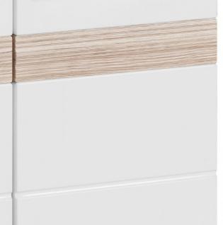 Garderobenkombination SetOne in Hochglanz weiß und Eiche San Remo Garderobenset 2-tlg. Schuhschrank und Spiegel - Vorschau 4