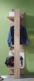 Garderobe Garderobenpaneel Campus San Remo Eiche hell mit weiß 45 x 187 cm