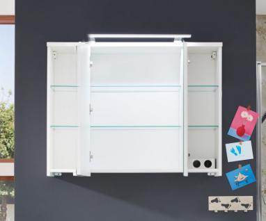 Spiegelschrank Schrank Adamo weiß Hochglanz tiefzieh Breite 100 cm - Vorschau 3