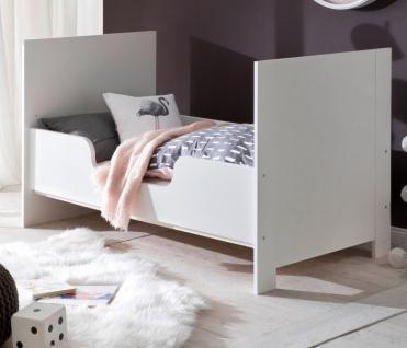 Babyzimmer Olivia in weiß und blau komplett Set 5-teilig mit Kleiderschrank Babybett Wickelkommode mit Regal und Wandregal - Vorschau 5