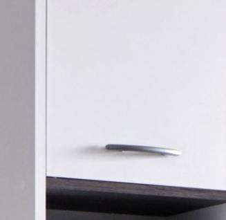 Badmöbel Set California 3-teilig in weiß und Sardegna grau Rauchsilber 112 x 180 cm Badkombination - Vorschau 4