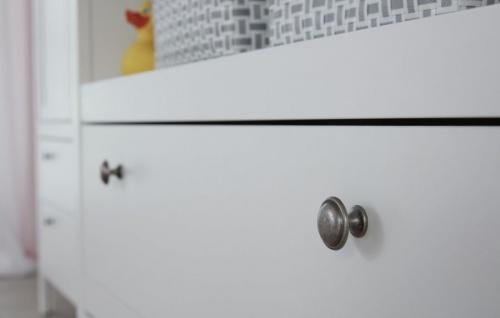 Wickelkommode in Landhaus weiß Wickeltisch 90 x 104 cm Babymöbel Ole - Vorschau 4