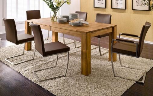Esstisch Paul in Wildeiche massiv geölt Küchentisch 200 / 250 / 300 x 100 cm Tisch ausziehbar