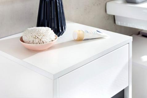 Badmöbel komplett Set Lack Hochglanz weiß und grau 5-teilig SOL hängend - Vorschau 3