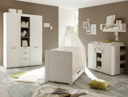 Babyzimmer komplett Set Landi Anderson Pinie weiß 6-teilig